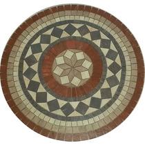 Roseton Ceramico Geometrico Loft Cerro Negro(guardas Mallas)