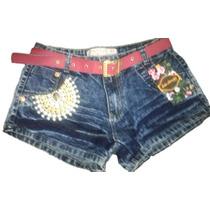 Short Feminino Jeans Customizado + Cinto Grátis Black Friday