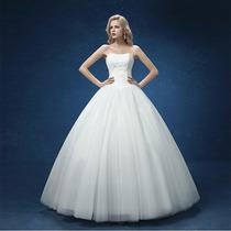 Vestido De Noiva Organza Luxo Importado Pronta Entrega