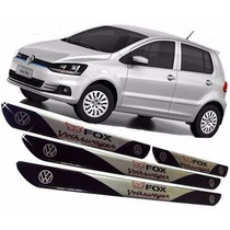 Jogo De Soleira Resinadas Volkswagen Fox Todos Vw + Brinde