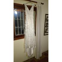 Vestido De Novia Bordado (cristal De Swarovski)