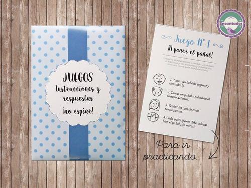 Kit Juegos Para Baby Shower Digital Para Imprimir 70 00 En