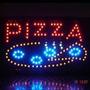 Letreiro Luminoso De Led Pizza Novo 110v Para Loja Painel