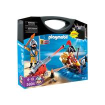 Playmobil Pirata Maleta 5894 Playset 4 A 10 Años