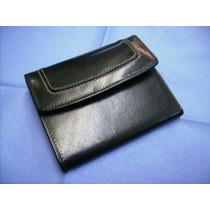 Billetera De Mujer - 100% Cuero - Clásica Color Negro -