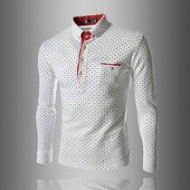 Nuevo Y Elegante Modelo Camisa Playera Para Hombre Punteada