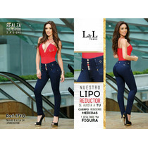 Jeans Pantalon Levanta Cola Efecto Faja Colombianos Control