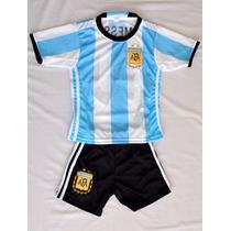 Nuevo Conjunto 2016 Argentina Messi Camiseta+short Niño Env.
