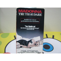 Vhs En La Cama Con Madonna Truth Or Dare Importada