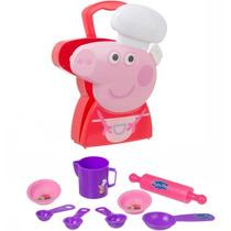 Brinquedo Menina Infantil Peppa Pig Maleta Chef Multikids