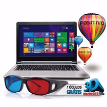 Notebook Positivo Intel Core I3 4gb Ram 500gb Hd Óculos 3d