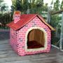 Casa Para Perro Ladrillo Estilo Muro Mascotas Casa Grande /