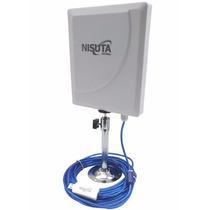 Antena Exterior Cpe Usb Wifi 300mbps 3w 12 Dbi 35 Dbm