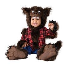Disfraz De Lujo Bebe Hombre Lobo Niño Halloween Lobito