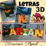 Letras 3d En Cartulina