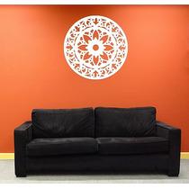 Mandalas Em Mdf Cru - 70x70 Cm - Escultura De Parede
