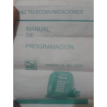 Manual De Programacion Telefono Rc 3000