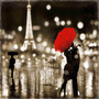 Paris Kiss En Tela Canvas Bastidor De 50x50 Cm