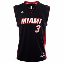 Jersey Sin Mangas Nba Miami Heat Hombre Adidas L71402