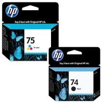 Kit De Cartucho De Tinta Hp 74 Preto E 75 Color Original