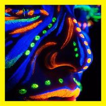 6 Crayones Pintura Fluorescente Neón Maquillaje Disfraz
