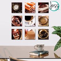 Cuadros Decorativos Set De 9 Piezas Café