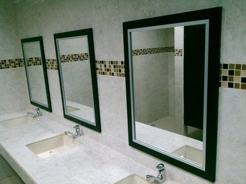 Espejos con marco de aluminio diferentes modelos y colores for Precio de espejos con marco