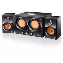 Caixa De Som 2.2 Double Bass 30w Rms Usb Fm Multilaser Sp118