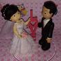 Topo De Bolo Casamento Noivinhos,biscuit,casal De Noivos