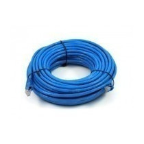 Cabo Rede Cat5e Azul 30m Metros Internet Net Lan Utp Montado