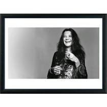 Cuadros De Janis Joplin! Marco Madera Con Vidrio+foto! Deco