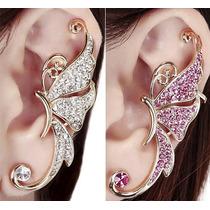 Arete Moda, Piercing Sin Perforación, Ear Cuff Mariposa
