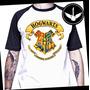 Camiseta Hogwarts Harry Potter Raglan Baby Look Livro Filme