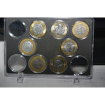 Coleccionador Monedas 20 Pesos, Acrilico Capsulas Individual