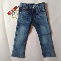 Pantalon Jeans Niño Tela Stretch Bota Tubo