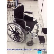 Silla De Ruedas Híbrida 2 En 1 Desmontable Envio Gratis