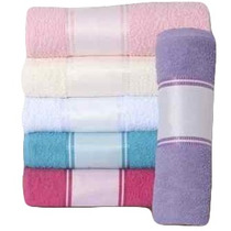 Toalha De Rosto Colorida Com Barra P Sublimação