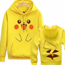 Moletom Pikachu Pokémon Blusa Casaco Anime Geekk