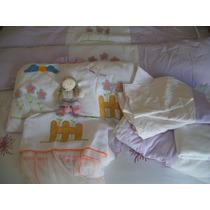 Kit Berço Americano 9 Peças Bebê Usados Menina