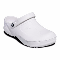 Sapato Chinelo Fechado Kemo Branco Profissional + Meia