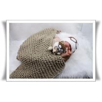 Manta (layer) De Tricô Para Fotografia Newborn