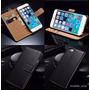 Funda De Piel De Carpeta Para Samsung Galaxy S6 Edge Plus !!