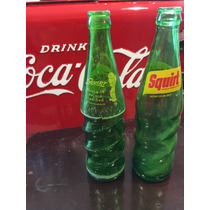 Par De Botellas Antiguas De Refresco Squirt