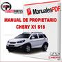 Manual De Propietario Chery X1 S18 Original Formato Pdf