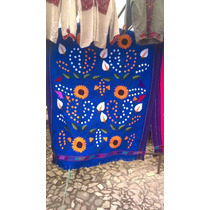 Sobre Cama, Mantel Bordado En Telar A Mano Artesania Chiapas