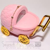 Pulseira De Ouro Bolinha 18k Luxo Para Bebê Clique E Confira
