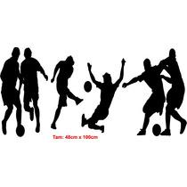 Adesivo Parede Futebol Time Jogo Decoração Quarto Sala Bola
