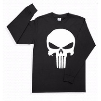 Playera The Punisher Manga Larga