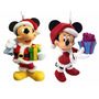 4 Esferas Navideñas Minnie Mickey Mouse Adornos Kit Navidad