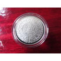 Moneda Medalla Calendario Azteca 1/10 Onza De Regalo Capsula